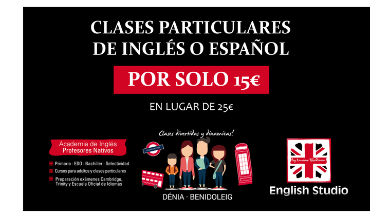 English Studio Denia - Clase particular 15€