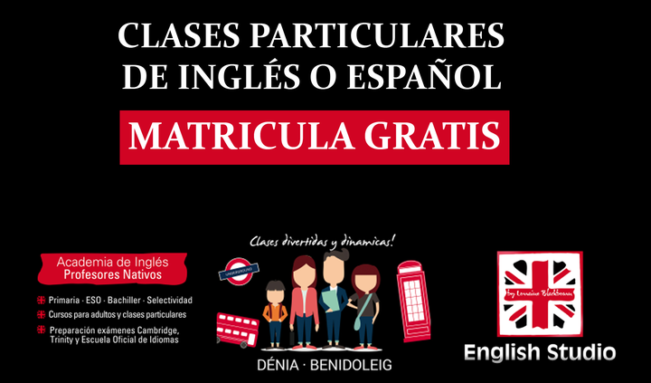 English Studio Denia - MATRICULA GRATIS